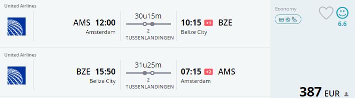 ticket meerdere bestemmingen