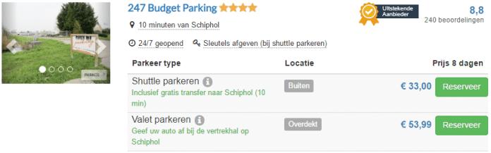 Goedkoop parkeren Amsterdam Schiphol Airport