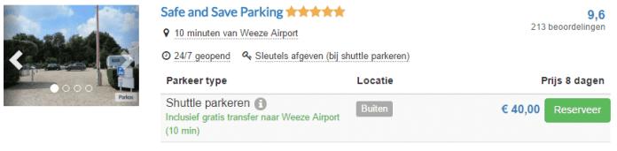 Parkeervoorbeeld Parkos Weeze