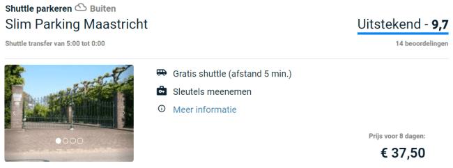 Voorbeeldboeking parkeren Maastricht