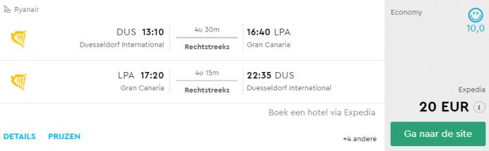 Voorbeeldboeking Gran Canaria 20 - 28 juni