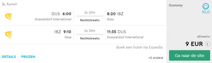 Voorbeeldboeking Ibiza 21 - 28 juni