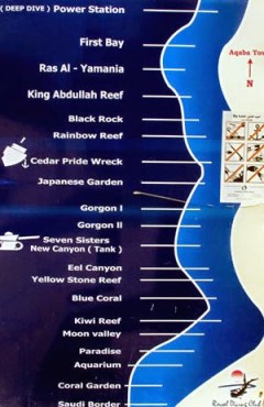 Dive Sites at Aqaba - South Beach