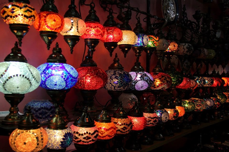 Istanbul: Turkish lamps at Grand Bazar