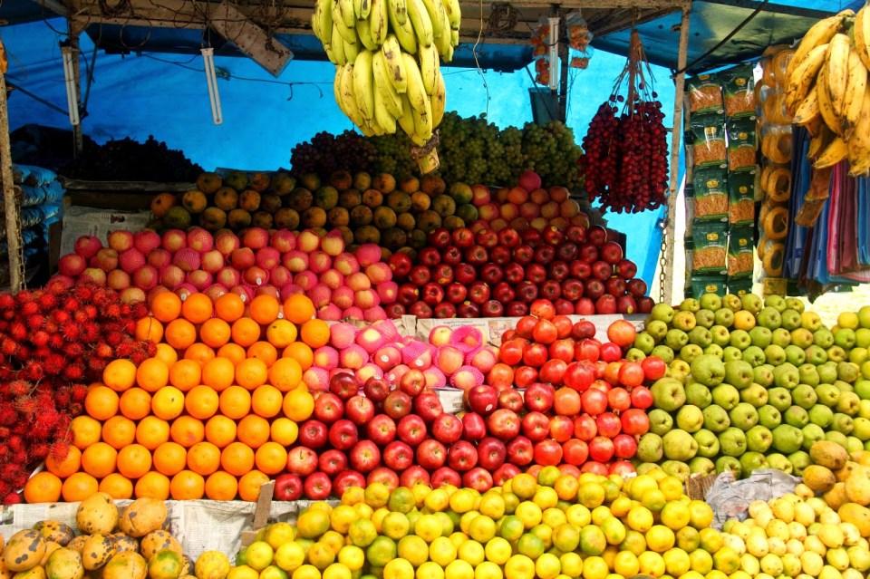 Local produce in Kerala, India