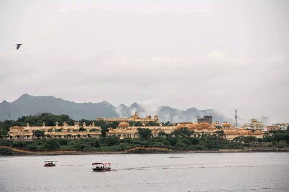Udaipur: Clouds descending on the Oberoi Udaivilas