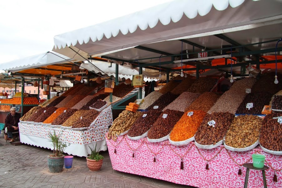Marrakech: Dried fruits at Djemma El Fna