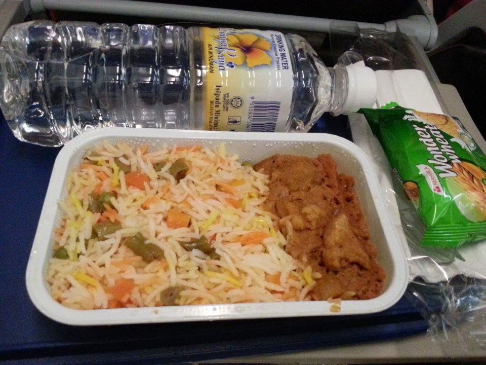Malindo Air: Vegetarian meal