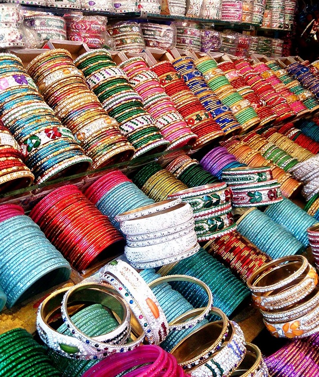 Colourful bangles... must have for a traditional evening!