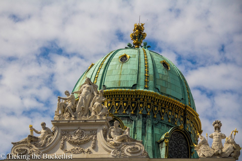 Patina covered dome at the Museum Quartier in Vienna