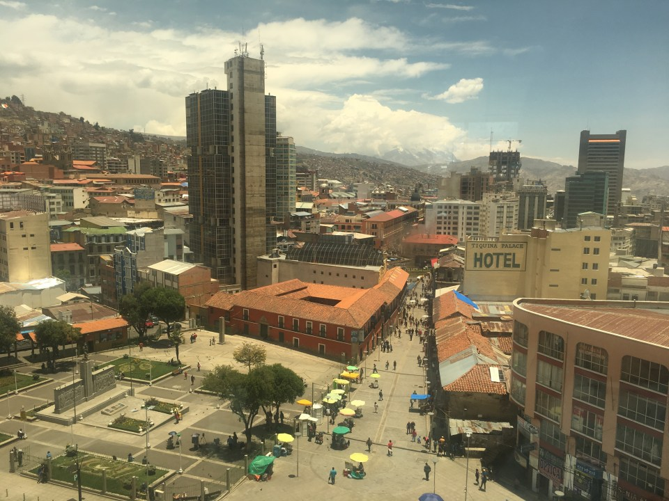 City view of La Paz