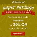 DaySpring's Annual Super Sale!