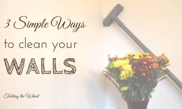 3 Simple Ways to Clean Walls
