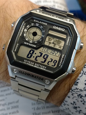 Casio AE1200 on the wrist