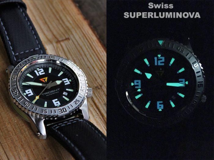 GallioTempo Trident - Swiss Super-LumiNova