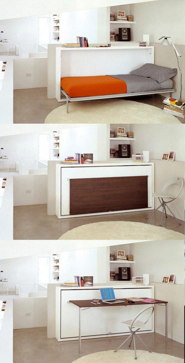 Space Saving Furniture Resource Furniture Poppi Desk   Multifunctional  Furniture, Space Saving Furniture
