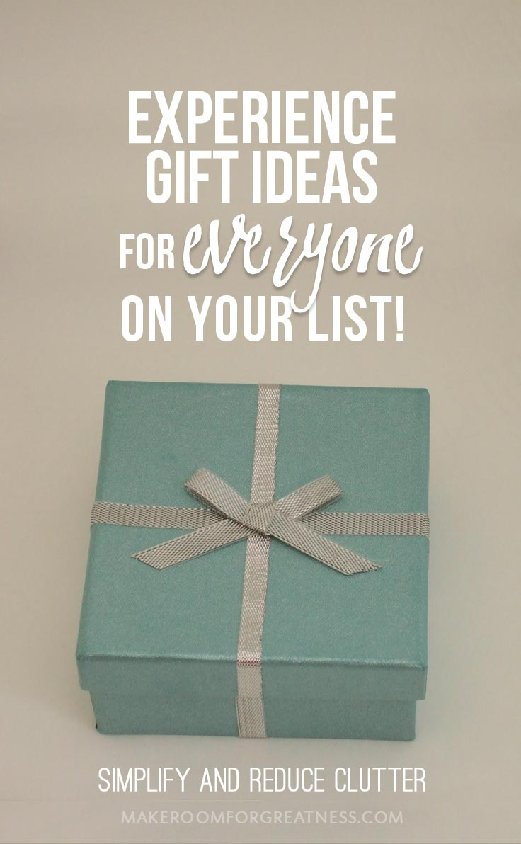 Experience Gifts Guide for Everyone On Your List - Simplify and Reduce Clutter!