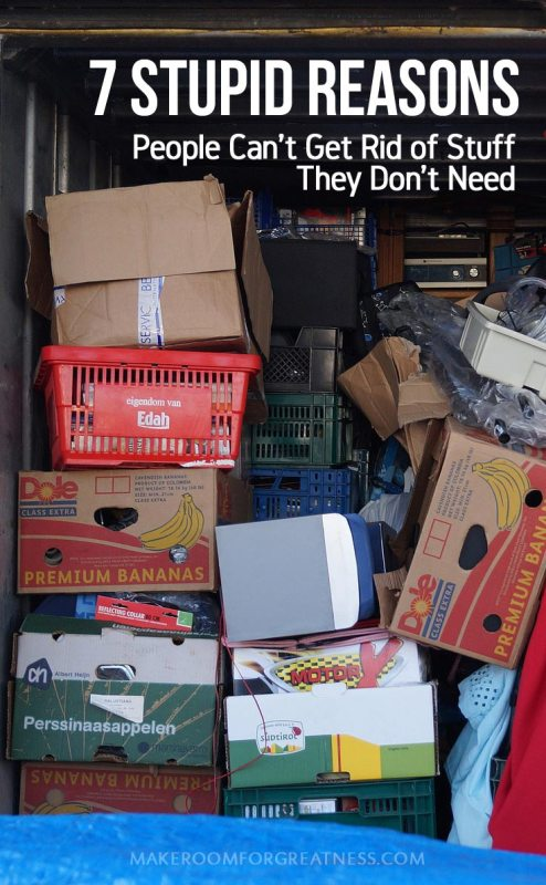 We all know people (maybe ourselves) who have a really hard time getting rid of things that they logically don't need! Here are some reasons this happens - recognizing the problem is half the solution, right?