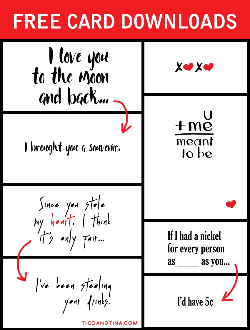 Silly Fun Free Printable Valentines Day Cards Tico Tina – Create Your Own Valentine Card Online Free