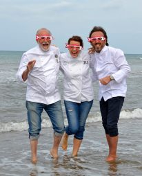 tre chef in mare piccola