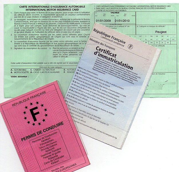 définition covoiturage - documents obligatoires carte grise, permis, assurance