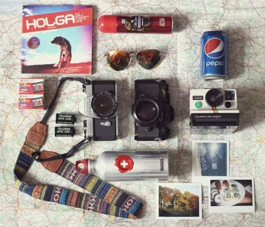 accessoire voyage - appareil photo gourde canette
