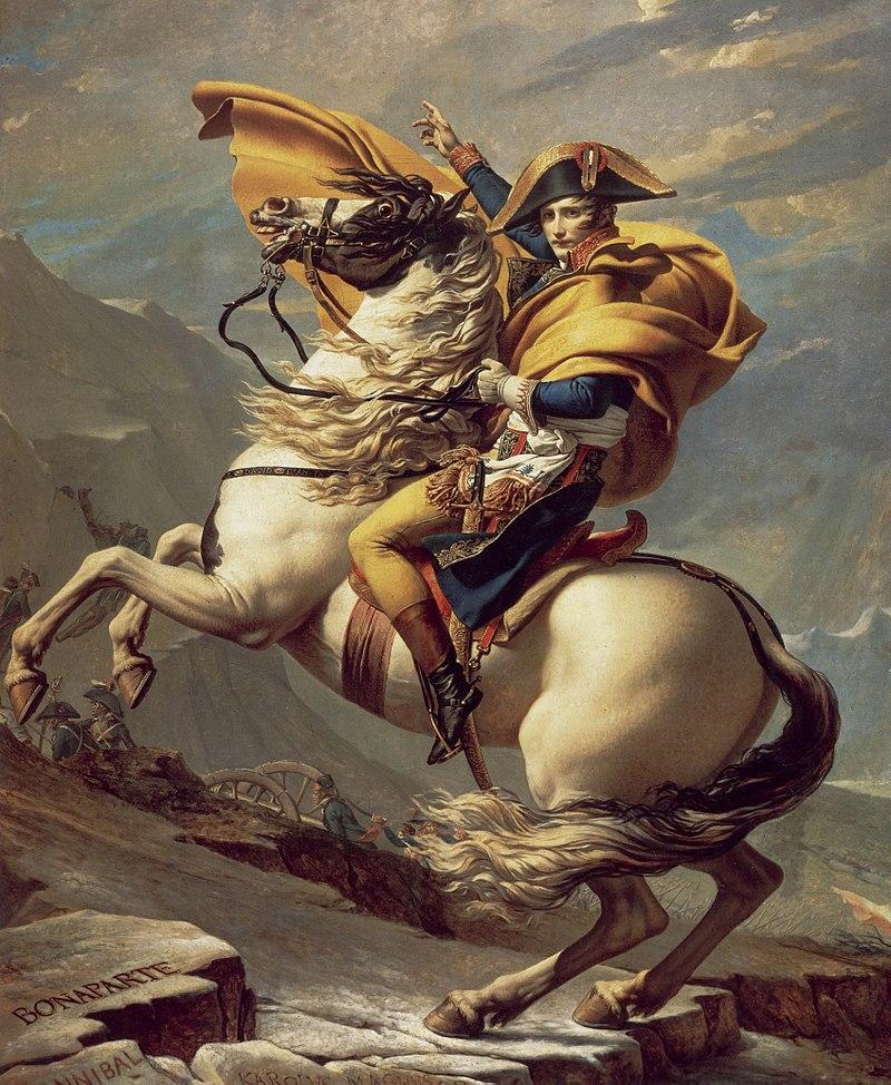 David : Bonaparte franchissant le Grand-Saint-Bernard