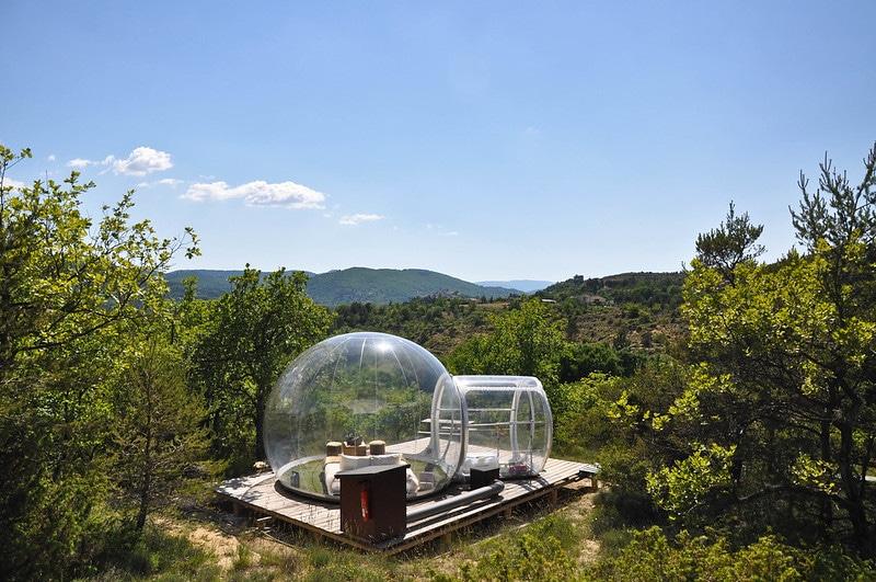hébergement de montagne bulle, nuit à la belle étoile montagne
