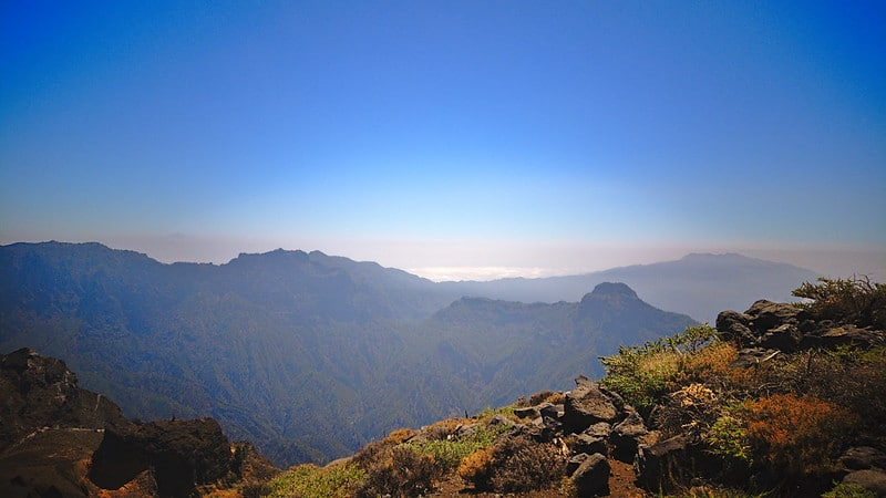 Vue depuis El Roque de los Muchachos - paysages de montagne
