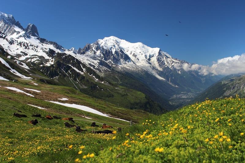 paysage de montagne Mont-Blanc