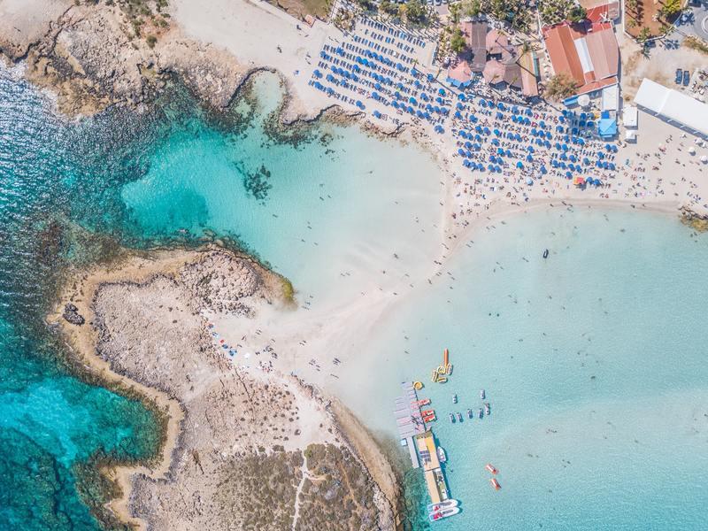 Ayia Napa plage et mer turquoise