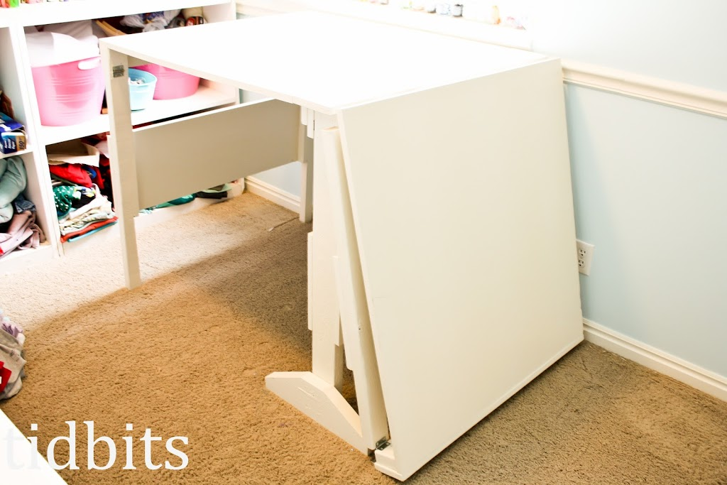 Cutting table plans tidbits Diy counter height craft table