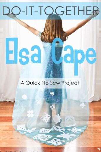 Do-It-Together Elsa Cape {No Sew}