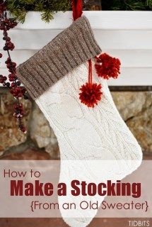 How to Make a Stocking from an Old Sweater