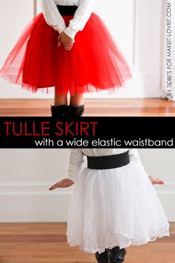 Tulle Skirt Tutorial {With a wide elastic waistband}
