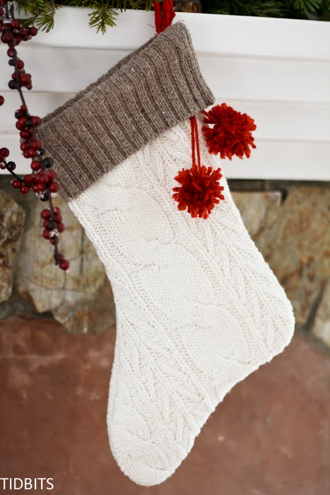 how to make a stocking out of a sweater