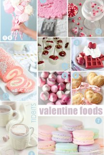 Valentine Food, Mood Board