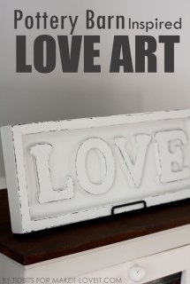Pottery Barn Inspired, Love art