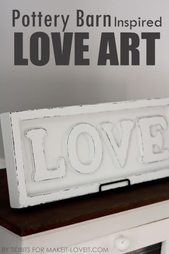 Pottery Barn Inspired Love Art