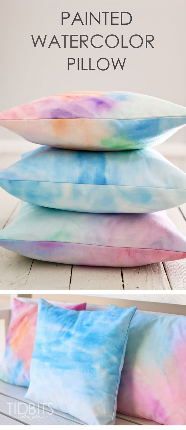 How to Make a Painted Watercolor Pillow
