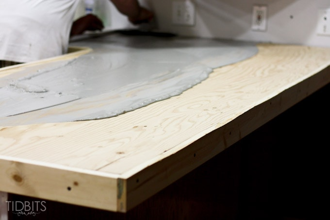 DIY Feather Finish Concrete Countertops   And How They Failed Us.