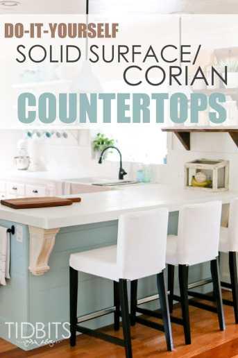 DIY Solid Surface/Corian Countertops