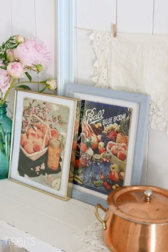 Time Worn Vintage Canning Books | Free Printables and a Vignette