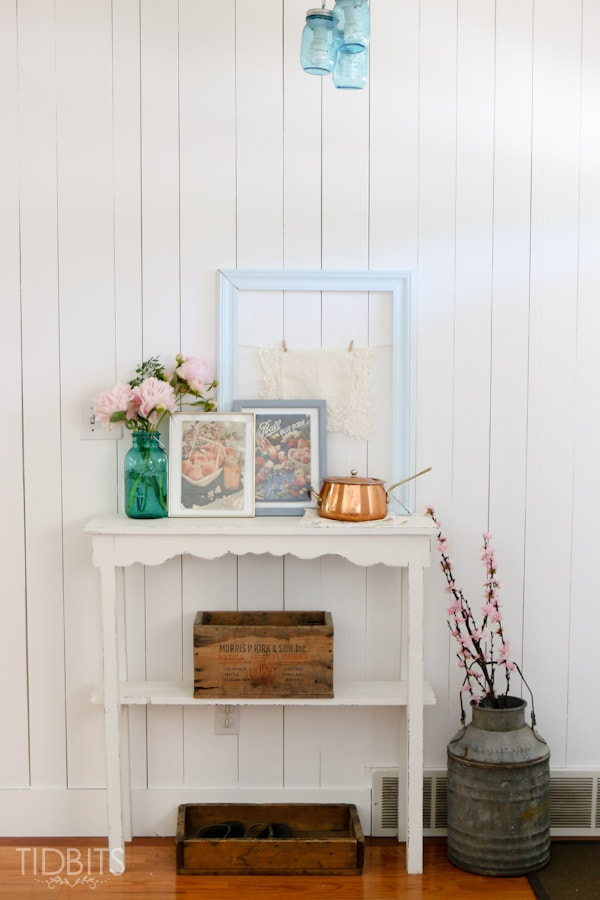 Time worn vintage canning books |3 FREE printables and a vignette