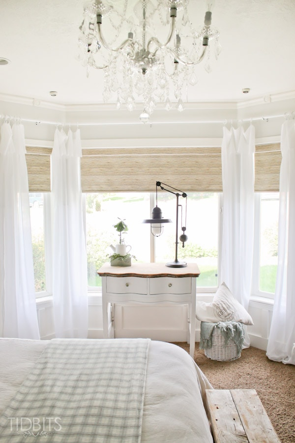 Affordable Textured Jute Like Roller Shades   As Seen In TIDBITS Master  Bedroom Reveal.