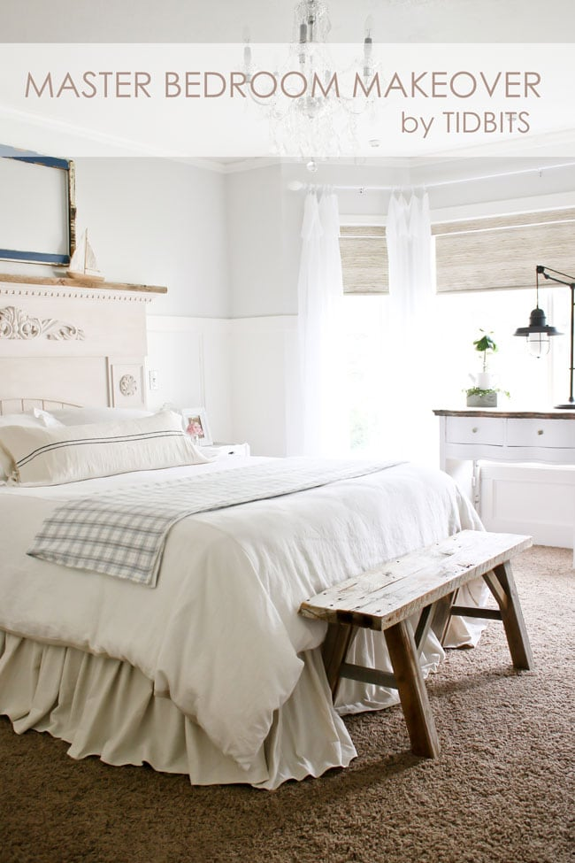bedroom makeover. A serene master bedroom makeover  full of DIY s thrifted treasures and beautiful decor Master Bedroom Makeover Reveal Tidbits