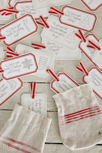 Christmas Countdown Conversation Cards | Free Printable