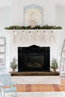 Cottage Christmas Mantel by TIDBITS