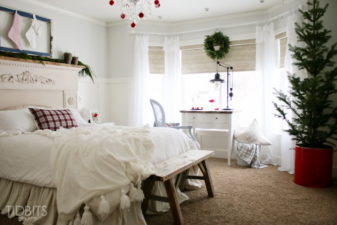 Cottage Christmas Master Bedroom-23