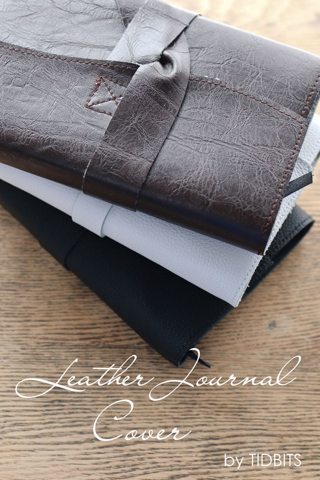 Leather Book Cover Diy ~ Leather journal cover diy